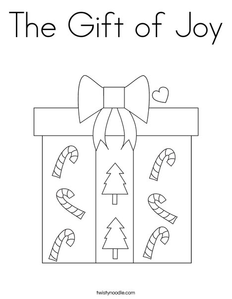 The Gift Of Joy Coloring Page