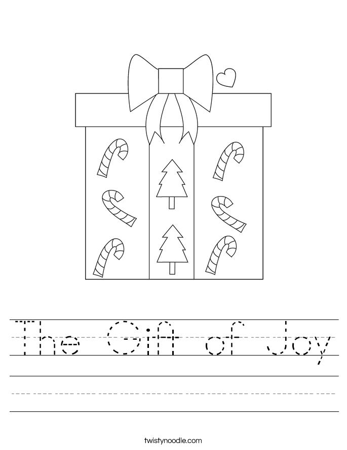 The Gift of Joy Worksheet