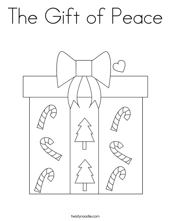 The Gift of Peace Coloring Page