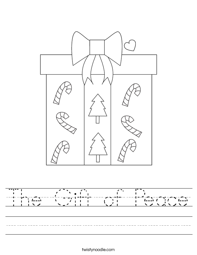 The Gift of Peace Worksheet