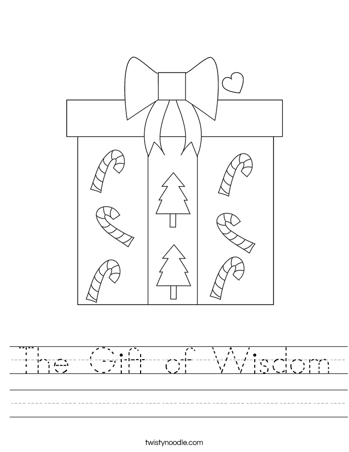 The Gift of Wisdom Worksheet
