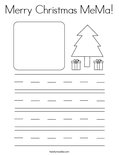 Merry Christmas MeMa! Coloring Page