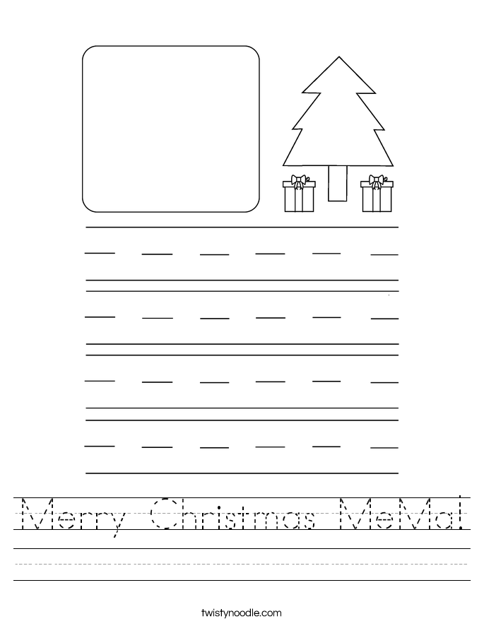 Merry Christmas MeMa! Worksheet