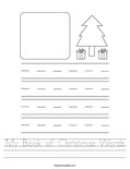 My Book of Christmas Words Worksheet