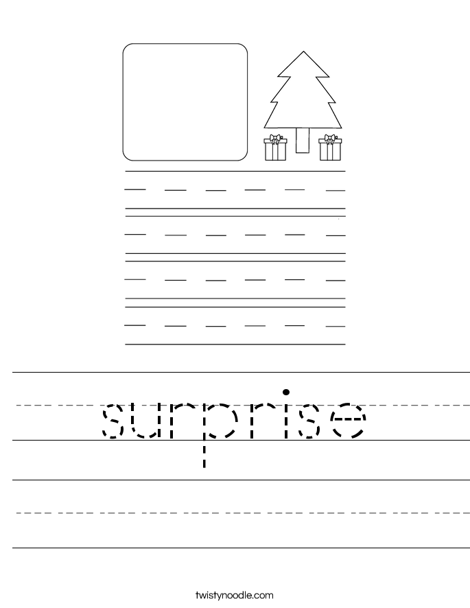 surprise Worksheet