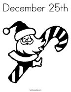 December 25th Coloring Page