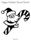 Happy Holiday! Secret Santa! Coloring Page