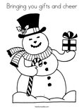 Bringing you gifts and cheer Coloring Page