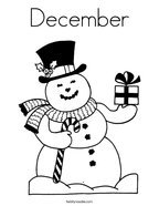 December Coloring Page