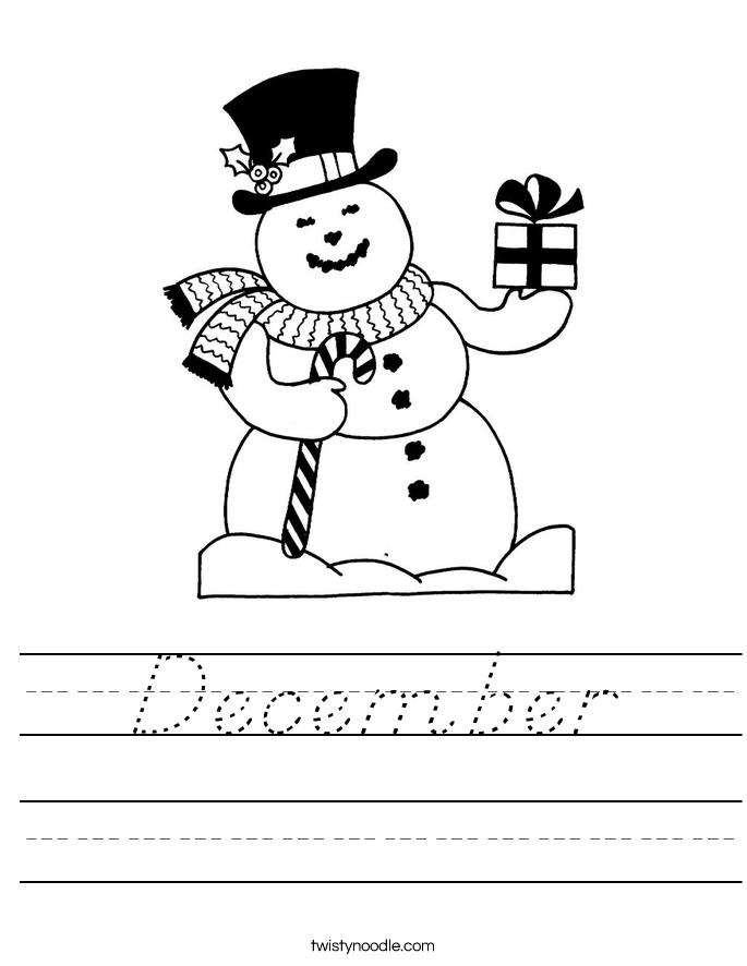December Worksheet