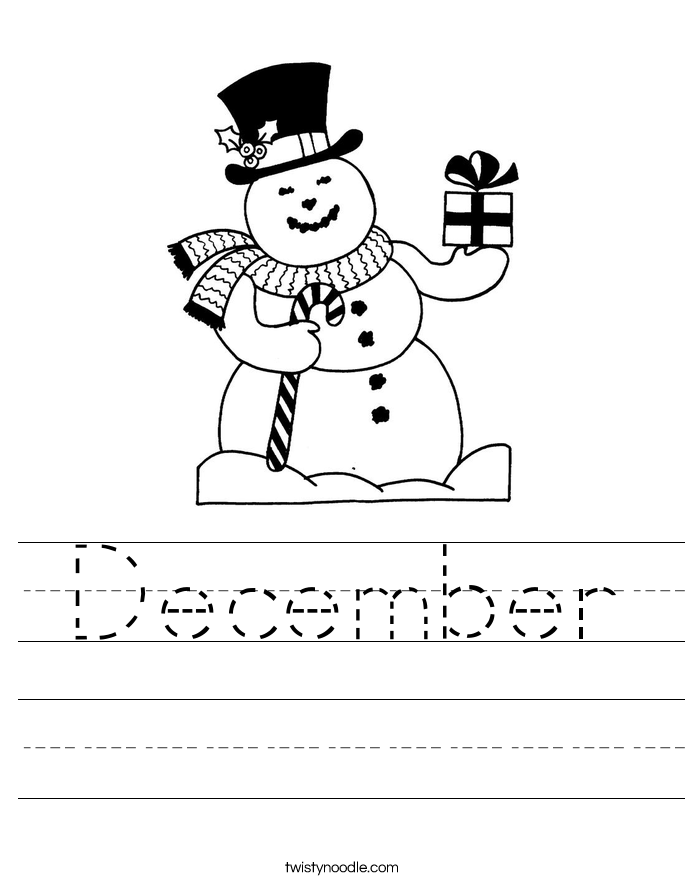 December Worksheet