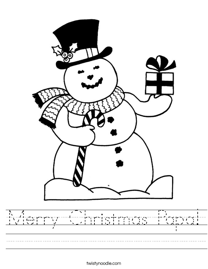 Merry Christmas Papa! Worksheet