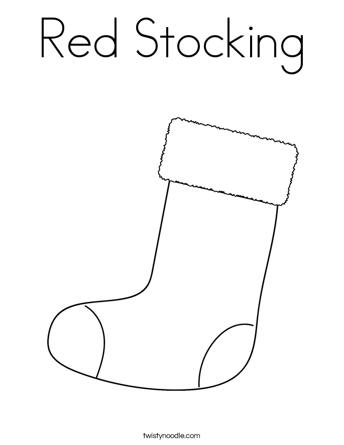 Red Stocking Coloring Page