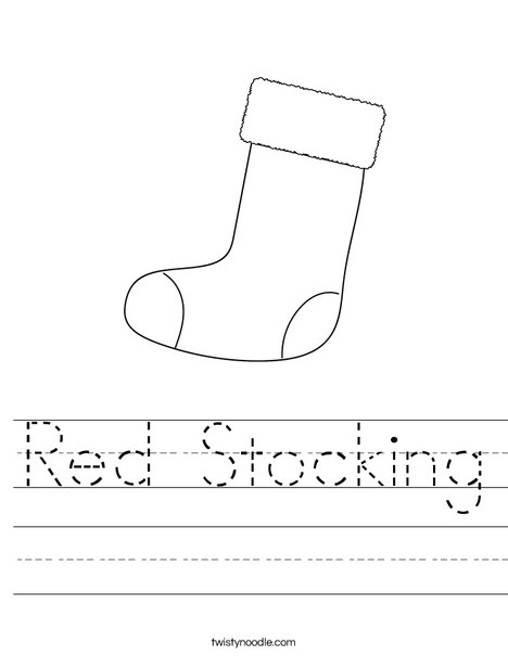 Christmas Stocking Worksheet