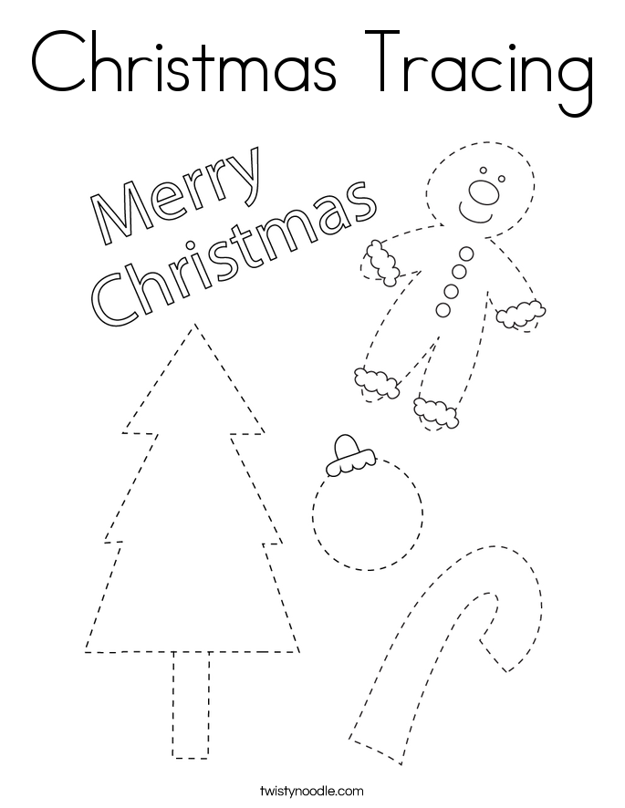 Christmas Tracing Coloring Page