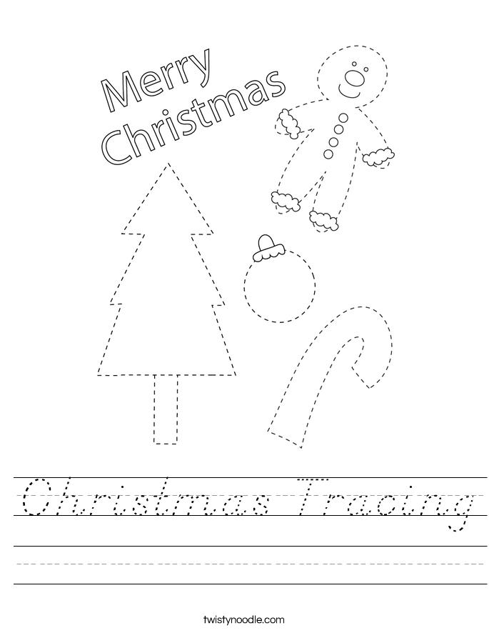Christmas Tracing Worksheet