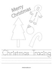 Christmas Tracing Handwriting Sheet