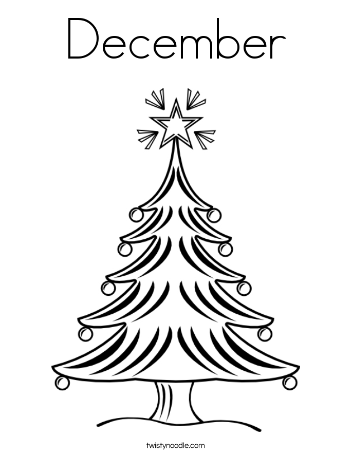 December coloring sheets coloring pages for December coloring page