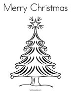 Merry Christmas Coloring Page