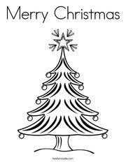 Christmas Tree 2 Coloring Page