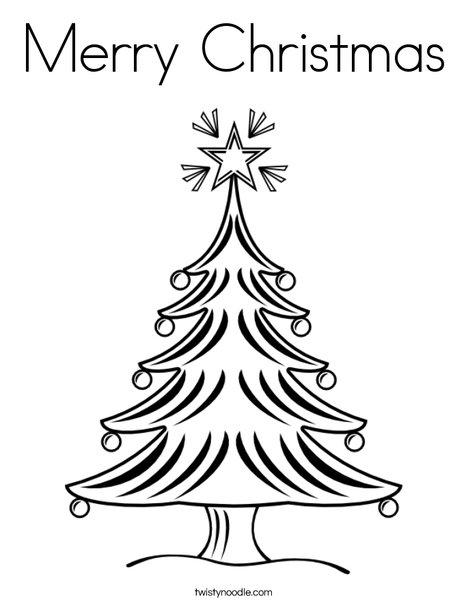 christmas tree 2 coloring page print this