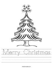 Christmas Tree 2 Worksheet