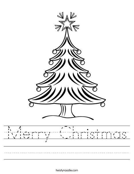 Christmas Tree 2 Worksheet