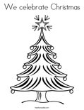 We celebrate Christmas Coloring Page