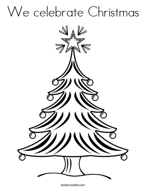 Christmas Tree 2 Coloring Page