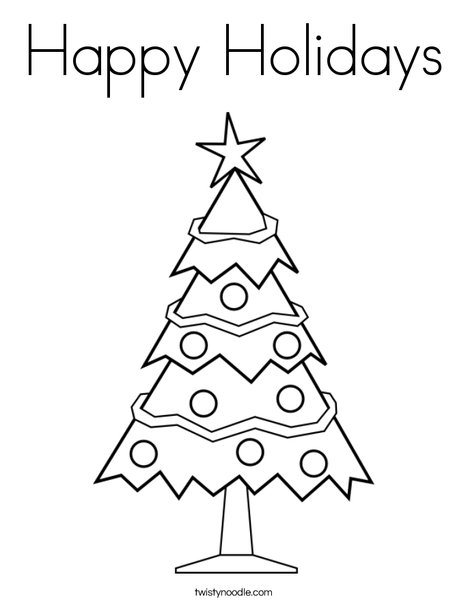 Holidays Coloring Pages Happy Holiday Coloring Pages