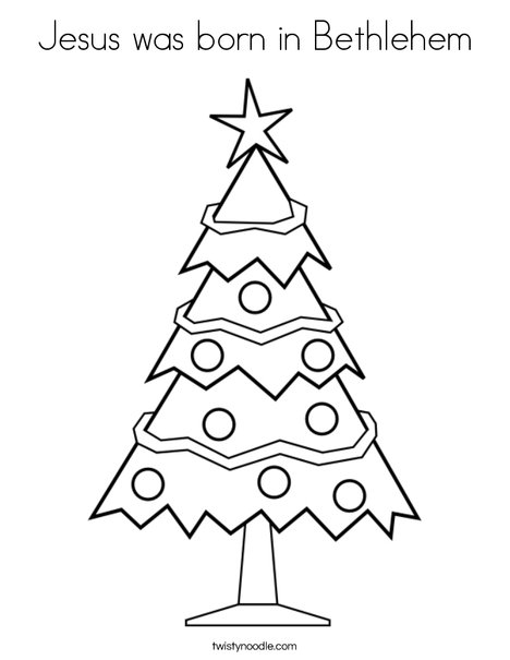 Christmas Tree 3 Coloring Page