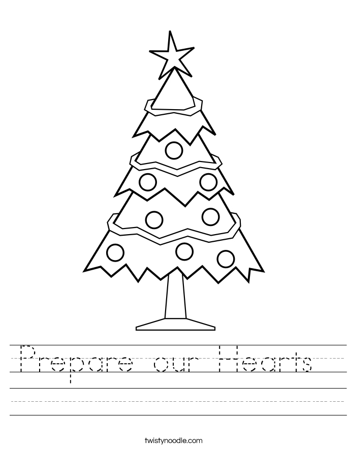 Prepare our Hearts  Worksheet