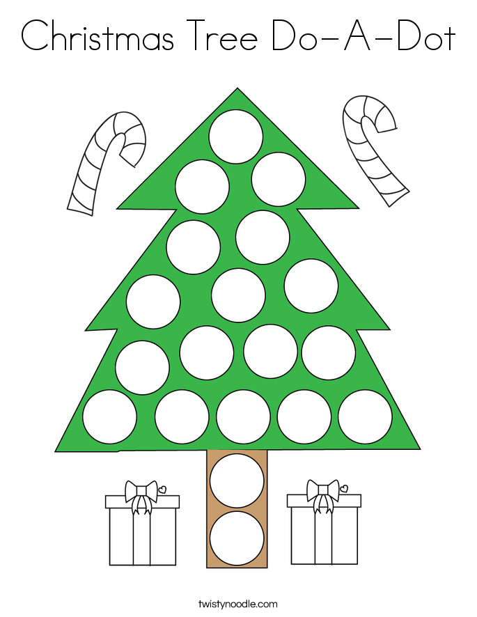Christmas Tree Do-A-Dot Coloring Page