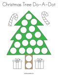 Christmas Tree Do-A-Dot Coloring Page