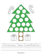 Christmas Tree Do-A-Dot Handwriting Sheet