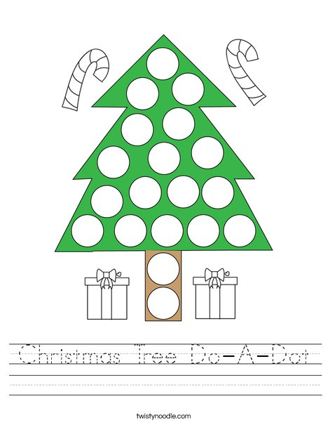 Christmas Tree Do-A-Dot Worksheet