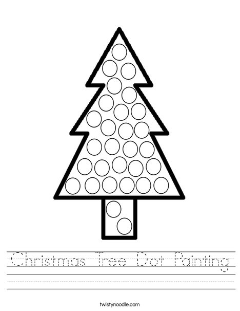 Christmas Tree Dot Painting Worksheet