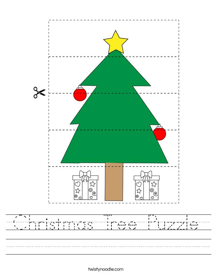 Christmas Tree Puzzle Worksheet
