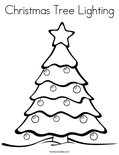 Christmas Tree LightingColoring Page