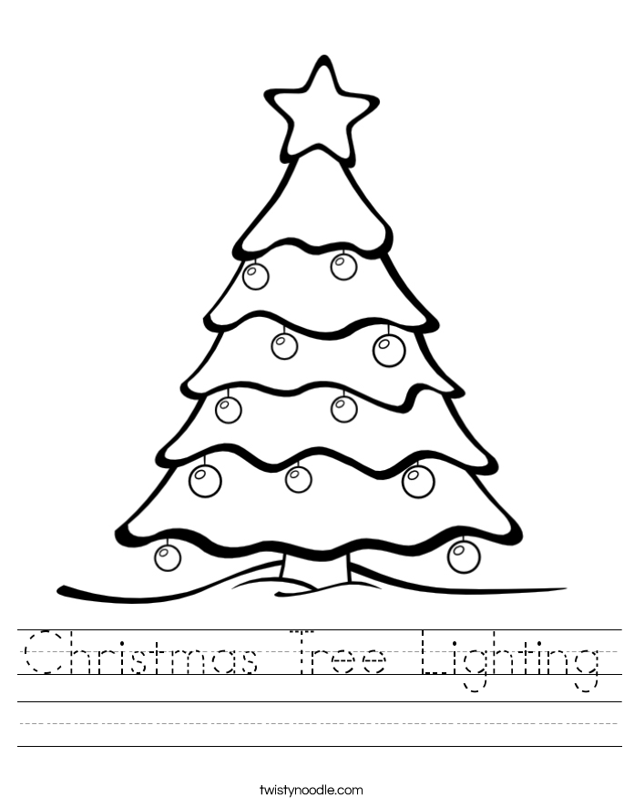 Christmas Tree Lighting Worksheet