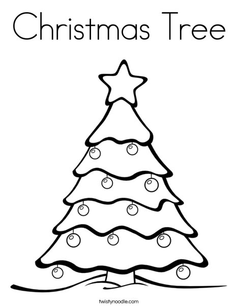 Christmas Tree Coloring Page  Twisty Noodle