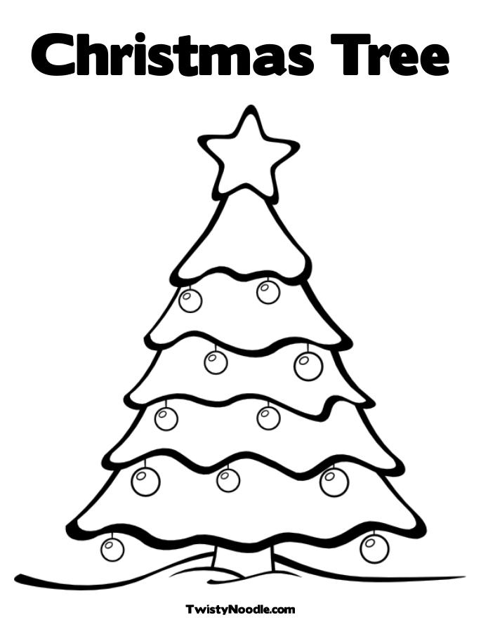 coloring pages and christmas tree - photo#10