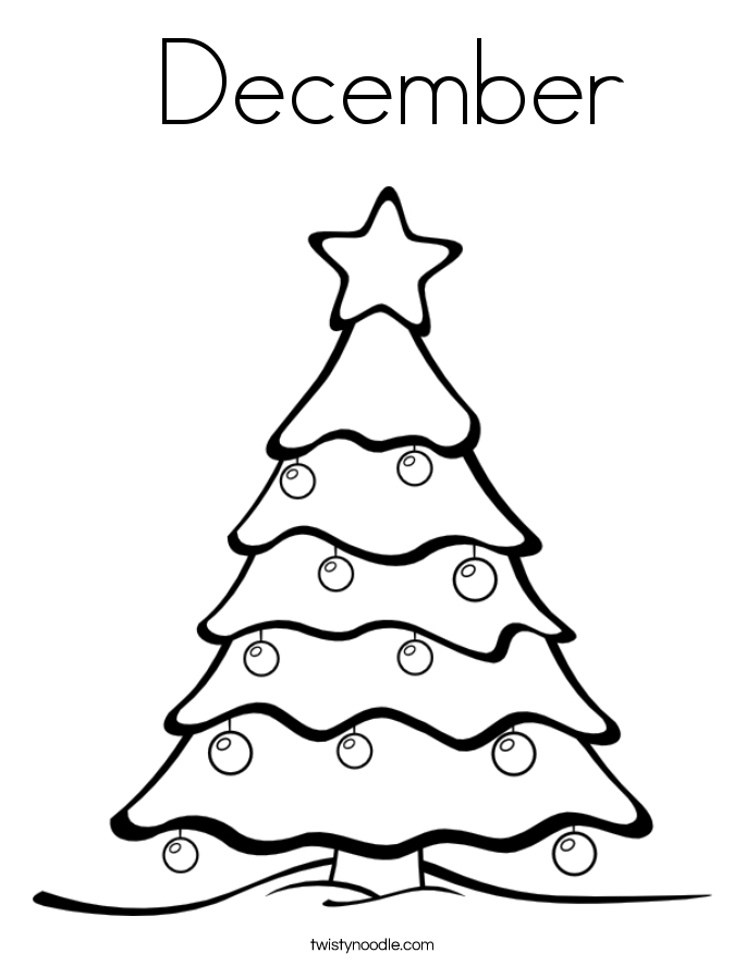 December Coloring Page Twisty Noodle December Coloring Sheets