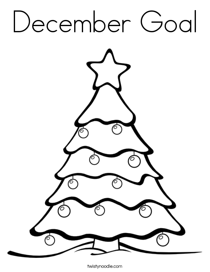 December Goal Coloring Page