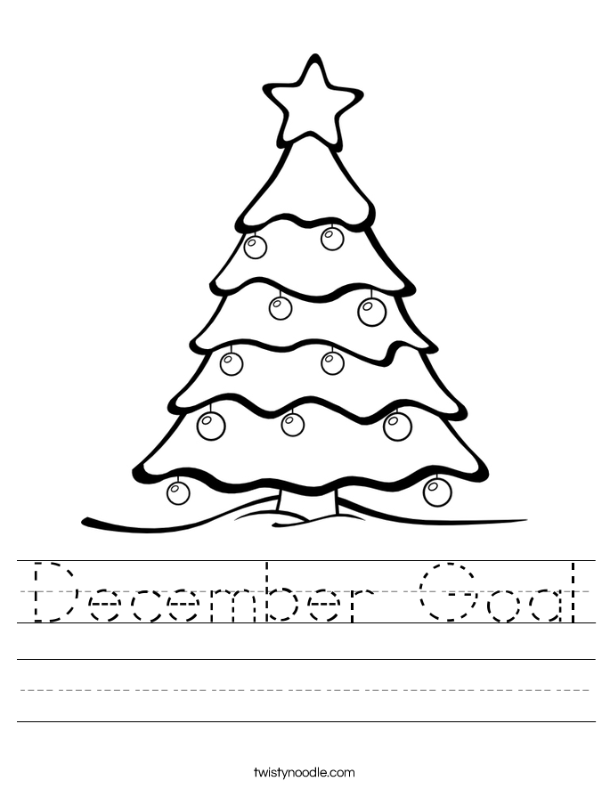 December Goal Worksheet