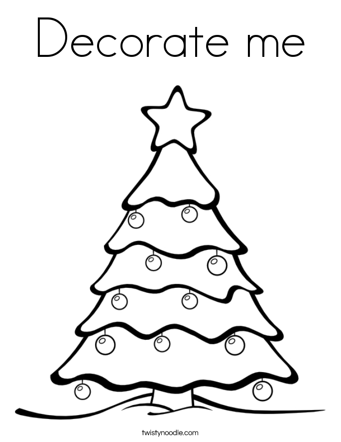 Decorate me Coloring Page
