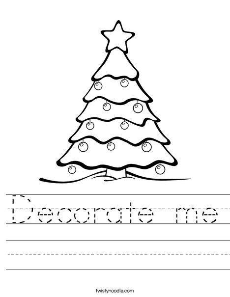 Decorate Christmas Tree Worksheet : Decorate me worksheet twisty noodle