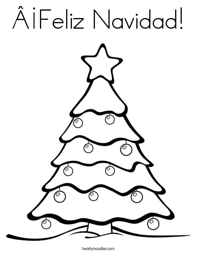 161 Feliz Navidad Coloring Page Twisty Noodle Feliz Navidad Coloring Pages