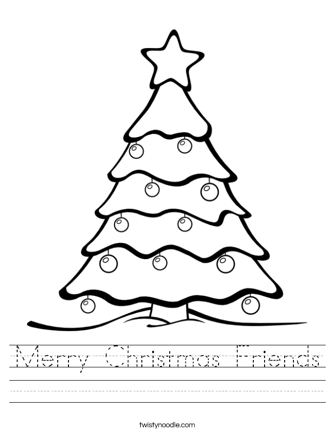 Merry Christmas Friends Worksheet