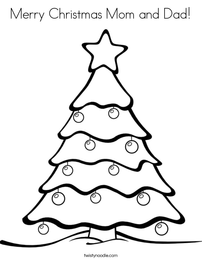 Merry Christmas Mom and Dad! Coloring Page